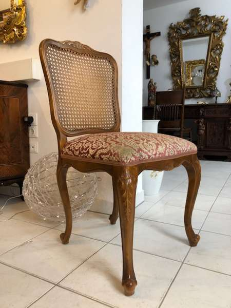 hübscher Chippendale Sessel Stuhl Rattangeflecht - X2033