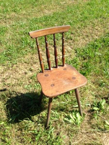 zierlicher Bauernsessel Stuhl Sprossenstuhl Landhausstuhl Nr 5512