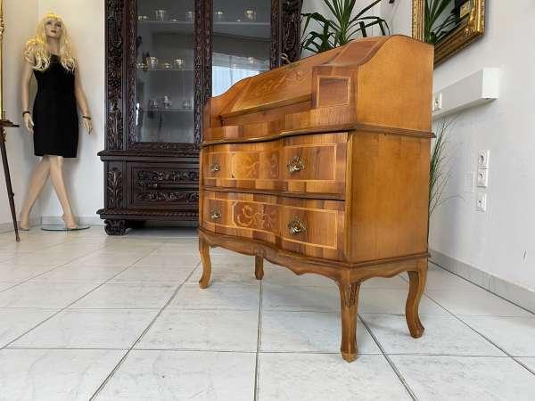 hübscher Sekretär Schreibtisch Barocker Stil Wurzelholz A2559