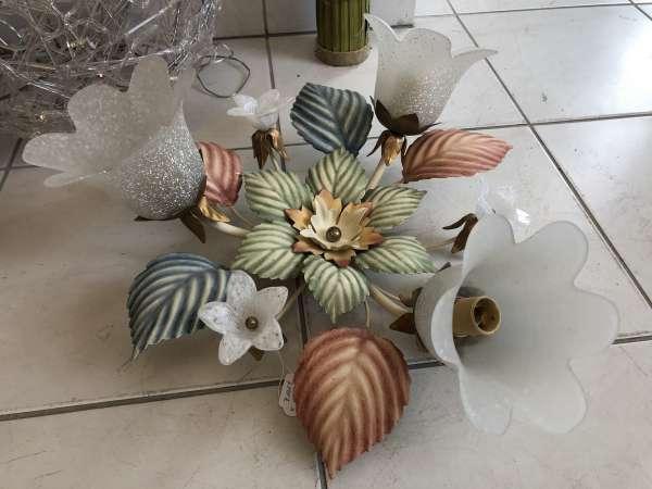 venezianischer Luster floraler Deckenleuchter Blätterform Z1689