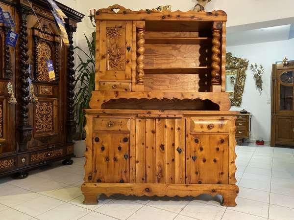 hübsche Zirbenholz Anrichte Küchenkredenz Stellage Vorratsschrank A2179