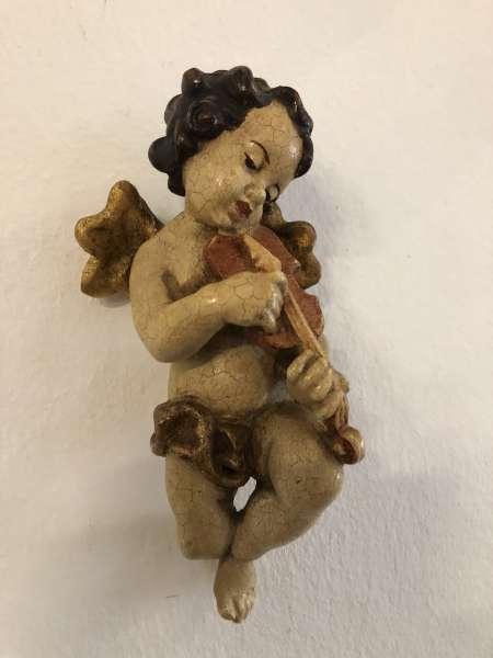 hölzerne Engelsfigur Engel Holzfigur Sakralwesen Z1561