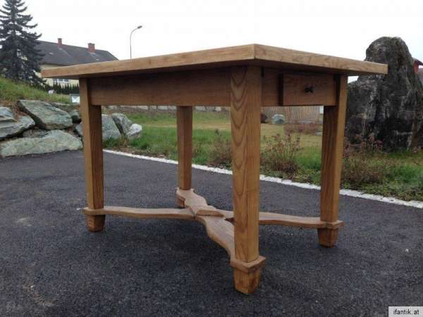 originaler Naturholz Bauerntisch Massivholz Landhaustisch Tisch 6143