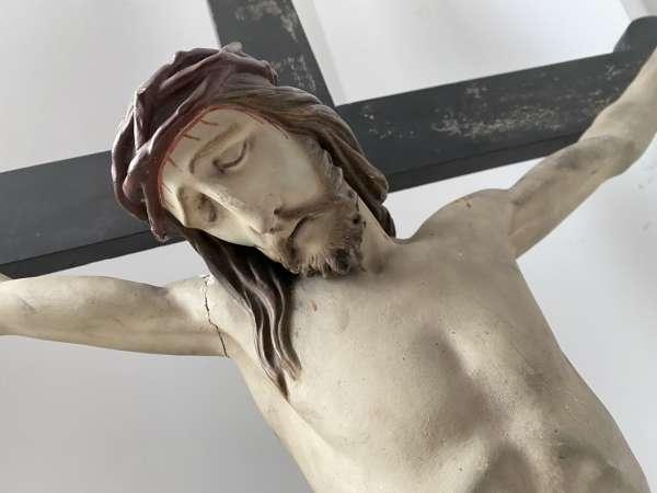 INRI Kruzifix Jesu Christi Kreuz Wandkreuz Dreinageltypus Holz 18./19.Jhdt A1015