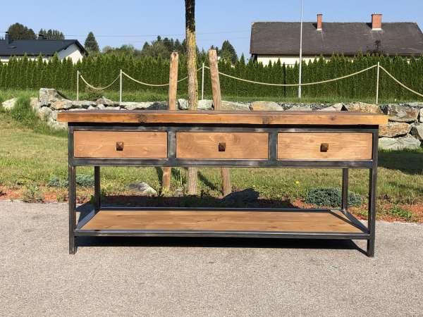 traum Designertisch Werktisch Eisentisch Ladentisch Einzelstück Z1664